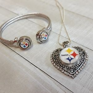 Pittsburgh Steelers Bracelet and Necklace